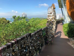 Wishing bells at Mount Faber Park
