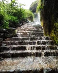 Waterfall Stairway, Visapur Fort