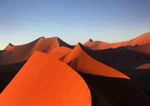 Namib sand dunes