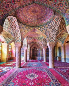 Nasir al-Mulk Mosque in Shiraz,Iran